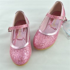 Girl's Sparkling Glitter Flat Heel Closed Toe Flats With Sparkling Glitter