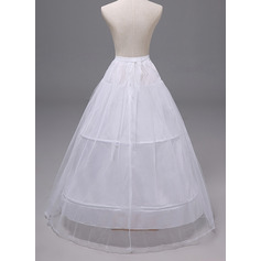 Women Polyester 2 Tiers Petticoats