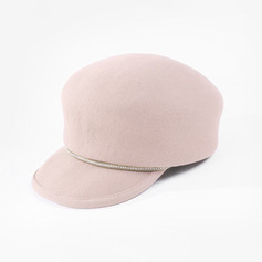 Ladies' Simple/Eye-catching Wool With Rhinestone Bowler/Cloche Hats