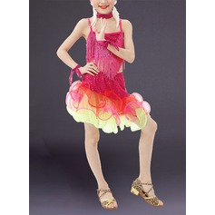 Kids' Dancewear Polyester Latin Dance Outfits