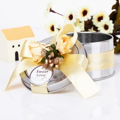 Lovely Cylinder Favor Tin With Ribbons (Set of 6)