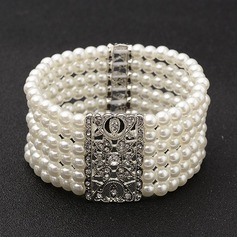 Fashionable Alloy/Imitation Pearls Ladies' Bracelets