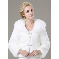 Long Sleeve Faux Fur Fashion Wrap (013100938)