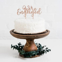We are Engaged Acrylic/Wood Cake Topper