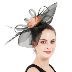 Ladies' Simple/Eye-catching Polyester With Silk Flower Fascinators