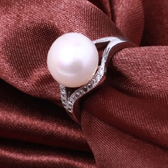 Charming Pearl/Sterling Silver Ladies' Rings