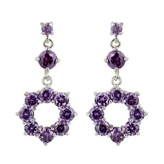 Beautiful Alloy/Cubic Zirconia Ladies' Earrings