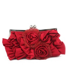 Charming Satin/Silk Clutches/Wristlets (012095806)