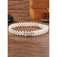 Elegant Imitation Pearls Belt With Rhinestones (015102736)