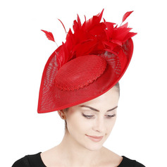 Signore Semplice/Occhi-cattura con Piuma Fascinators/Kentucky Derby Hats