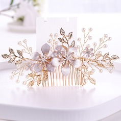 Ladies Elegant Rhinestone/Alloy/Imitation Pearls Combs & Barrettes With Rhinestone/Venetian Pearl (Sold in single piece)