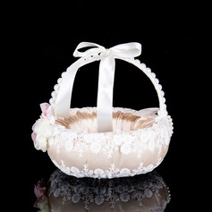 Pure Flower Basket With Flower