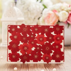 Floral Style Top Fold Invitation Cards (Set of 50) (114070775)