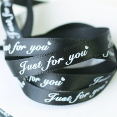 Black Width 2/5 Length 50Y - Just For You - Satin Ribbon Packaging Materials(127154108)