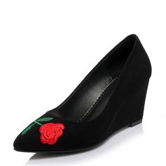 Frauen Veloursleder Keil Absatz Absatzschuhe Geschlossene Zehe Keile mit Andere Schuhe