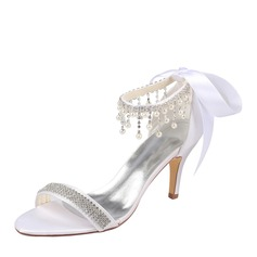 Women's Plastics Stiletto Heel Peep Toe Platform With Applique Crystal