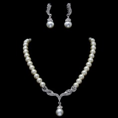 Elegant Alloy/Pearl With Rhinestone Jewelry Sets