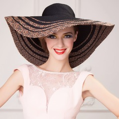 Unique Wide Polyester Brim Summer Beach/ Horse Racing Floppy Sun Hats