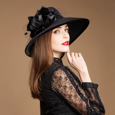 Ladies ' Glamourøse Uld med Tyl Bowler / Cloche Hat/Kentucky Derby Hatte/Tea Party Hats (196075339)