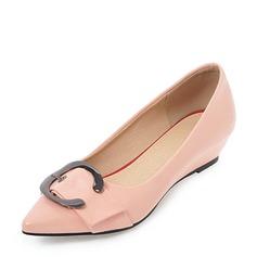 Vrouwen PVC Wedge Heel Wedges met Strass schoenen