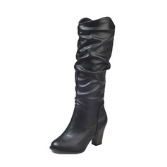 Women's PU Chunky Heel Pumps Boots Knee High Boots With Others shoes