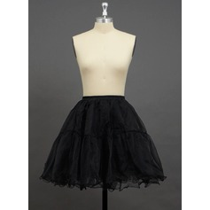 Women/Girls Organza/Polyester Short-length 2 Tiers Petticoats (037033990)