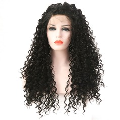 Curly Synthetic Hair Lace Front Wigs 360g