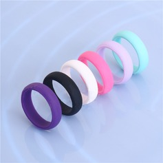 Chic Silicone Unisex Fashion Rings (Sold in a single piece)