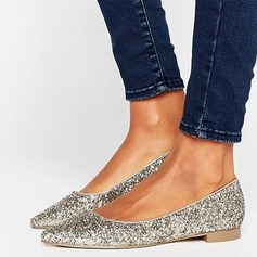 Women's Sparkling Glitter Flat Heel Flats Closed Toe shoes (086152983)