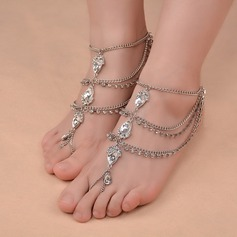 Rhinestone Alloy Foot Jewellery (Sold in a single piece) (107130779)