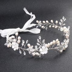 Ladies Alloy Headbands With Venetian Pearl