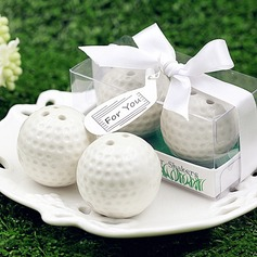 Ceramic Golf Ball Salt and Pepper Shaker Club Promotion Gifts