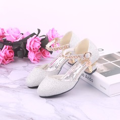 Pigens Round Toe Lukket Tå Leatherette Flower Girl Shoes