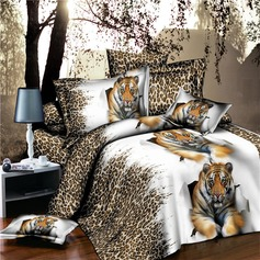 Modern/Contemporary Polyester Comforters (4pcs :1 Duvet Cover 1 Flat Sheet 2 Shams)