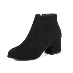 Similicuir Talon bottier Bottines avec Zip chaussures