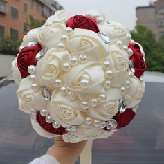 Round Satin Bridal Bouquets (Sold in a single piece) - (123129751)