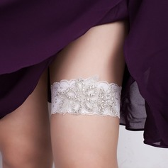 Marvelous Lace With Rhinestone Wedding Garters