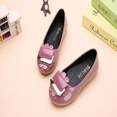 Girl's Leatherette Flat Heel Round Toe Closed Toe Flats With Buckle