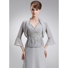 3/4-Length Sleeve Chiffon Special Occasion Wrap (013017188)