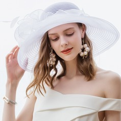 Dames Glamour/Simple Polyester avec Feather Chapeaux de plage / soleil