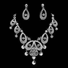 Beautiful Alloy/Rhinestones Women's Jewelry Sets