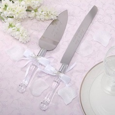 Personalized Stainless Steel Serving Sets With Diamond Rhinestone/Bow