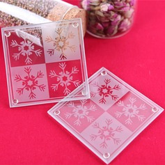 Snowflake Glass Coaster (Set of 2)