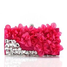 Gorgeous Satin/Acrylic Clutches (012109790)