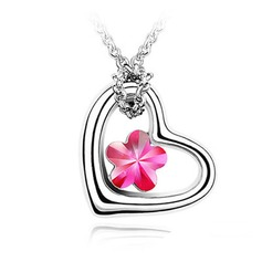 Magical Heart Alloy With Crystal Women's Necklaces