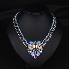 Exquisite Alloy Gold Plated With Rhinestone Imitation Stones Ladies' Fashion Necklace