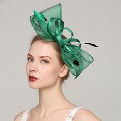 Dames Exquis Batiste/Feather avec Feather Chapeaux de type fascinator/Kentucky Derby Des Chapeaux