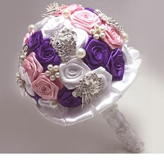 Charming/Sweet Round Satin Bridal Bouquets -
