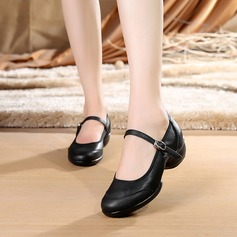 Women's Real Leather Sneakers Modern Dance Shoes