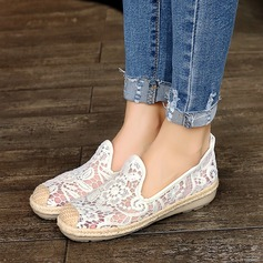 Women's Lace Flat Heel Flats Closed Toe With Stitching Lace Split Joint shoes